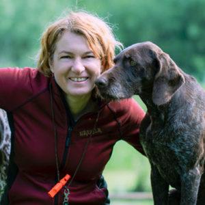 Sabine Pöllmann Karlik mit Deutsch Kurzhaar