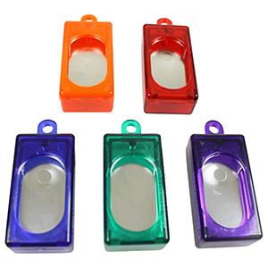 Kastenklicker in orange, rot, blau, grün und lila